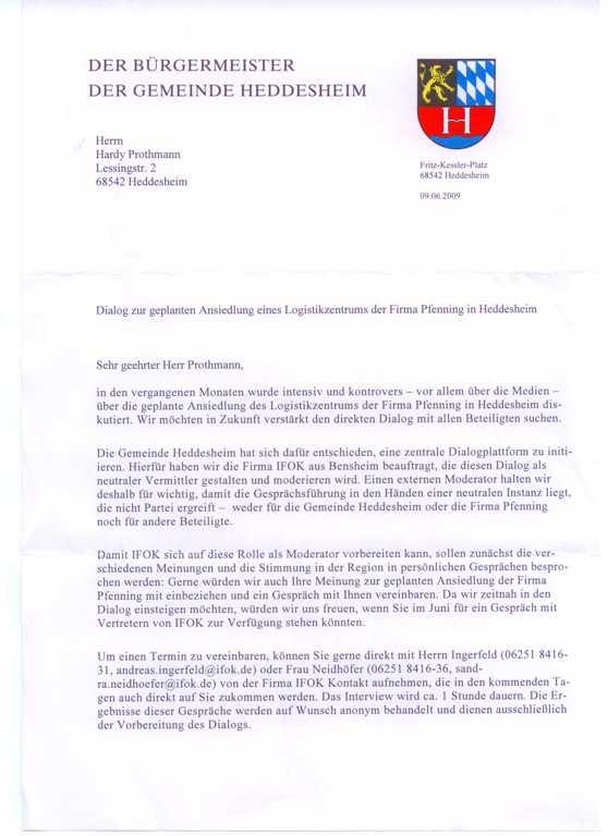 """Der """"IFOK-Brief"""" aus dem Rathaus"""
