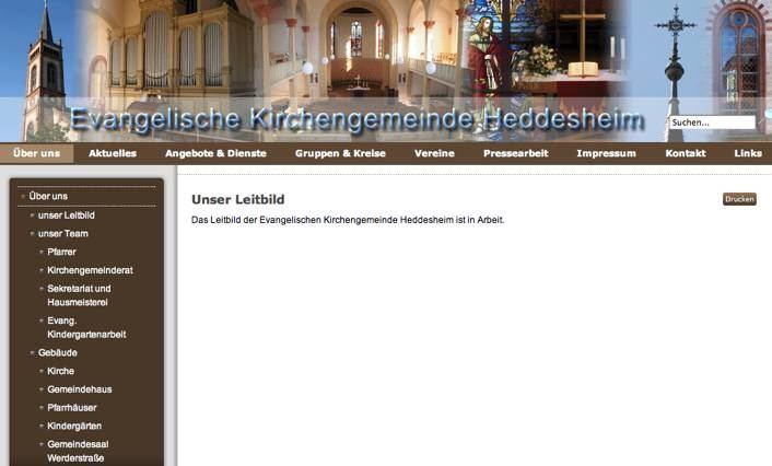 Neuer Internetauftritt der evangelischen Kirchengemeinde