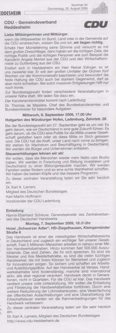 Dokumentation: Dieser Text der CDU sorgt für Aufregung