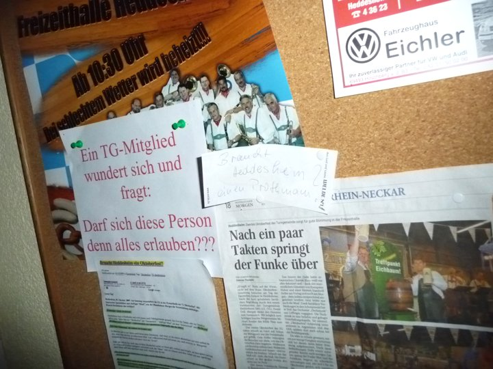 Offener Brief an den Gesamtvorstand der TG Heddesheim