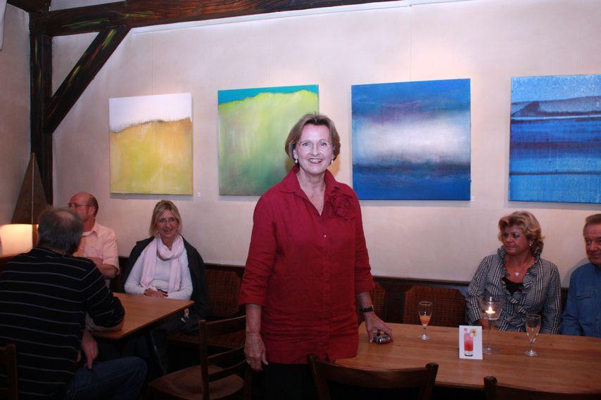 Bilder-Ausstellung von Gisela Harms im Schluckspecht