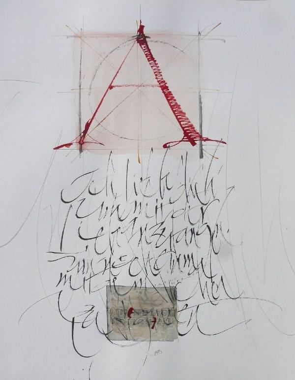 """""""Bildhafte Wortgewalt"""" – Kalligrafien von Frank Fath"""