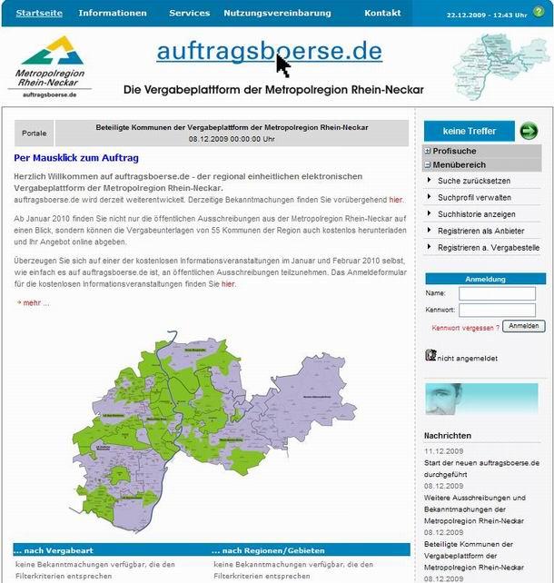 Diese Kommunen machen bei auftragsboerse.de mit