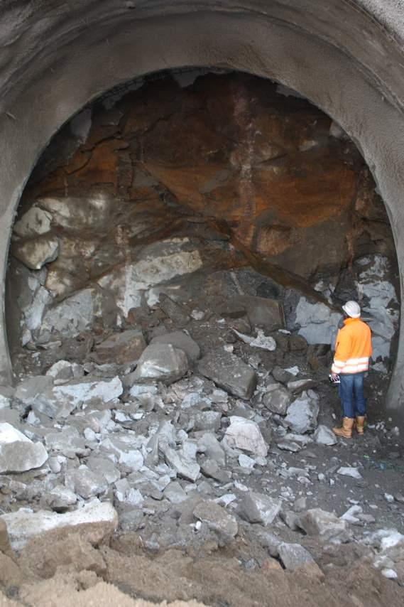 Sprengungen am Saukopftunnel
