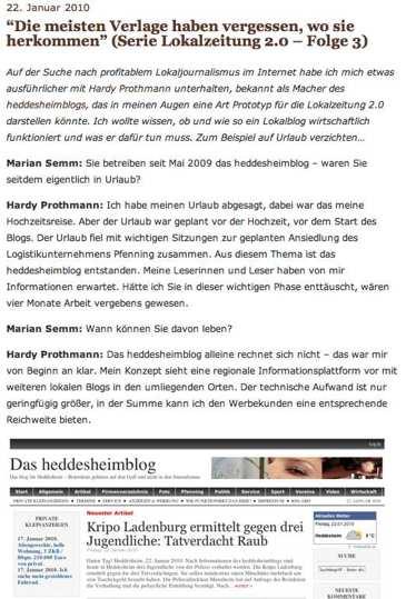 In eigener Sache: Marian Semm im Interview mit Hardy Prothmann