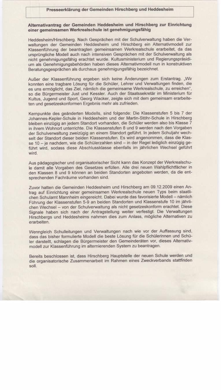 """Gemeinsame Werkrealschule: Der """"Alternativantrag"""""""