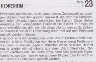Der gläserne Gemeinderat: Herr Merx, wieso behaupten Sie Unwahrheiten?