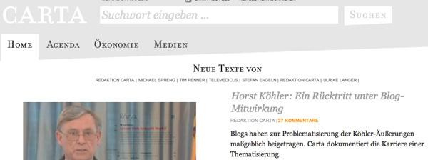 Haben Blogs Herrn Köhler zum Rücktritt bewegt?