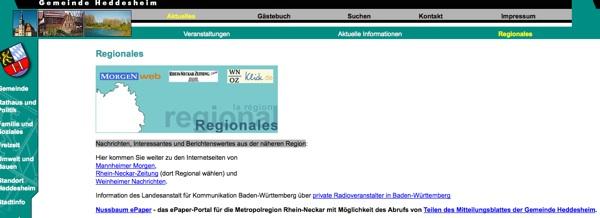 """Wie die Gemeinde Heddesheim ihre BürgerInnen """"informiert"""""""