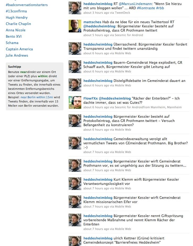 Gläserner Gemeinderat: Ich bin ein Twitterer