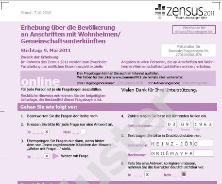 Zensus 2011: Landkreis sucht Interviewer für Volkszählung