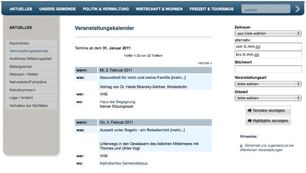 Die Gemeinde Heddesheim präsentiert sich neu im Internet – als Kopie
