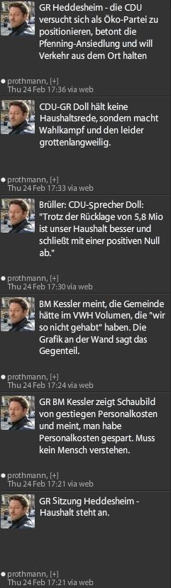 """Dokumentation: Was der Bürgermeister """"unanständig"""" findet – die Tweets von GR Prothmann"""