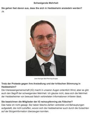 """Pfenning: Zusagen des """"vertrauenswürdigen Partners"""" aus der Region gelten nicht mehr"""
