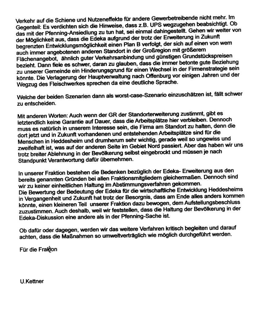 Aufstellungsbeschluss für Edeka-Erweiterung gefasst
