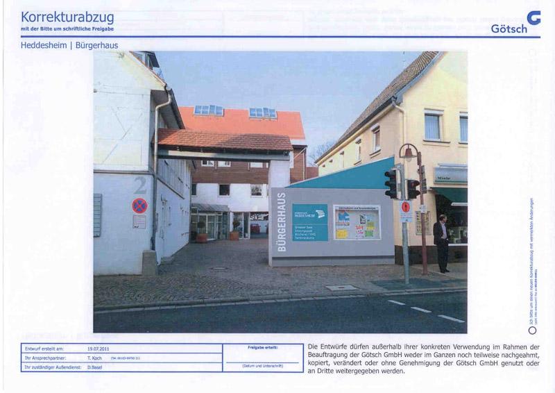 """Bürgerhaus: 13.000 Euro, damit Besucher von """"auswärts"""" das Bürgerhaus """"finden"""""""