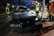 Schwerer Verkehrsunfall in der Großsachsener Straße – zwei Verletzte