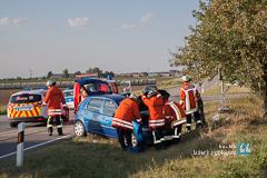 Pkw-Fahrer bei Verkehrsunfall schwer verletzt