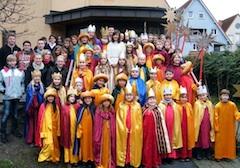 Sternsinger zogen am Sonntag durch Heddesheim