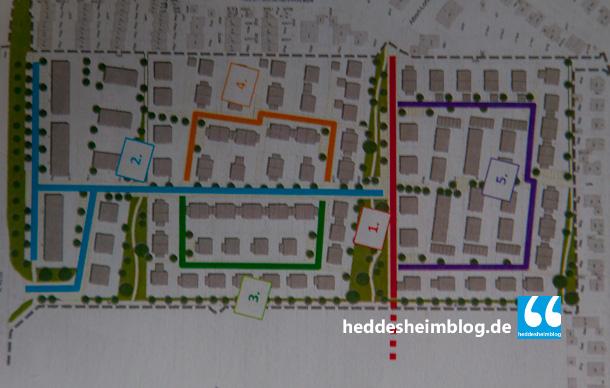 Die neuen Straßen werden folgende Namen tragen: 1. 2.  3. 4. 5.