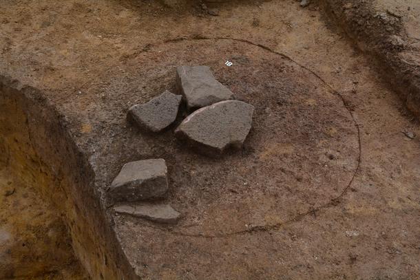 Heddesheim-Alemannen-Mitten im Feld-Archaeologie-Dr Klaus Wirth-Foto_REM--3